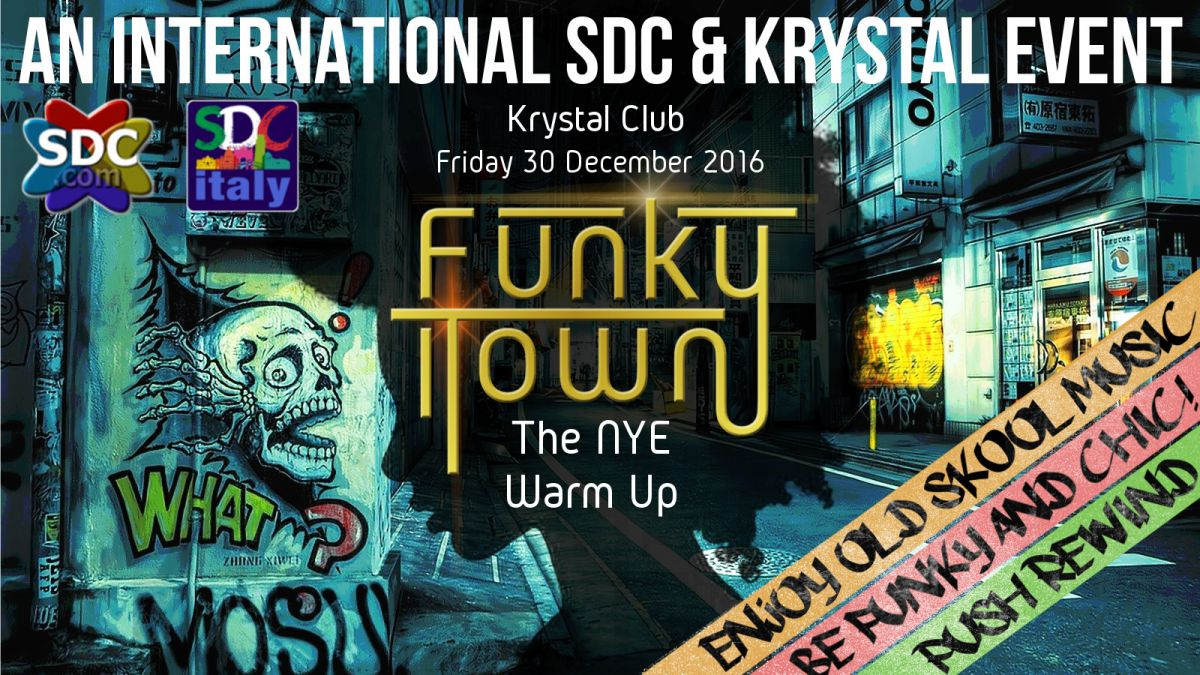 Funkytown a night of old skool music krystal club priv for Old skool house music